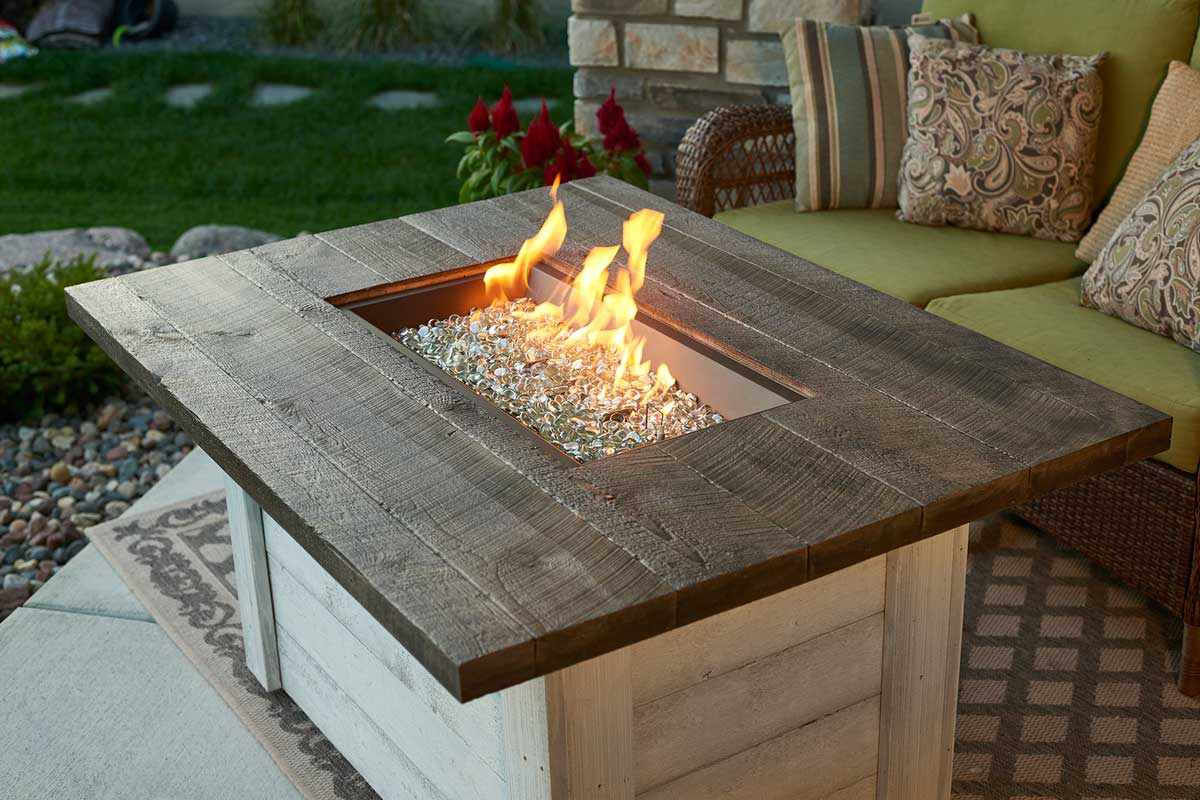 The Outdoor Greatroom Company Alcott Rectangular Gas Fire