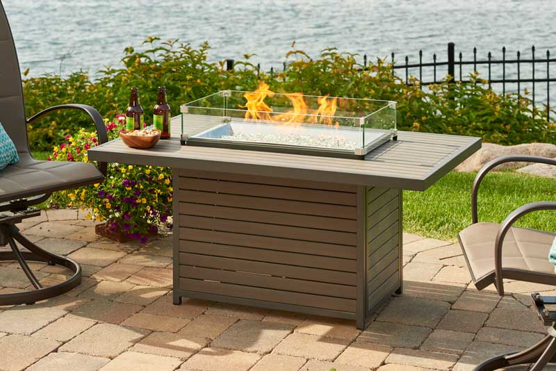 The Outdoor Greatroom Company Brooks Rectangular Gas Fire